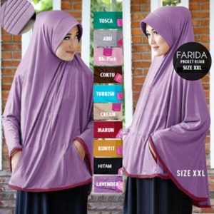 Hijab Instan Bergo Pocket Jumbo (Uk. XXL)