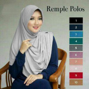 Hijab Instan Remple Polos