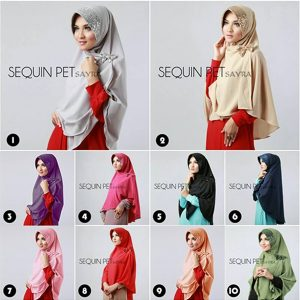 Hijab Instan Syar'i Sequin Pet