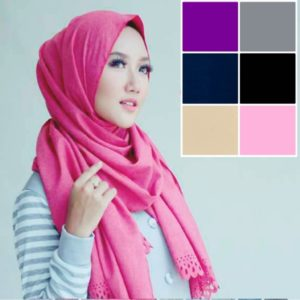 Hijab Pashmina Diamond Georgette Cutting