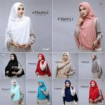 Hijab Syar'i Khimar Triangle Cutting