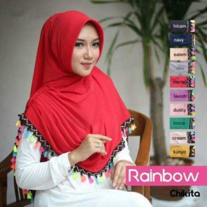 Hijab Instan Simple Rainbow