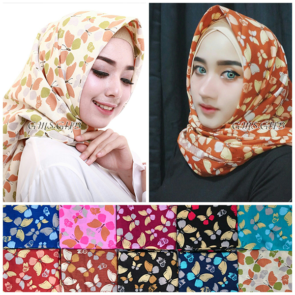 Tutorial Hijab Pashmina Katun Simple