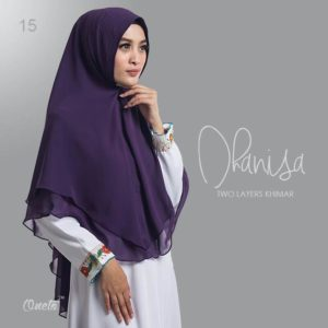 Hijab Syar'i Two Layers Khimar Dhanisa