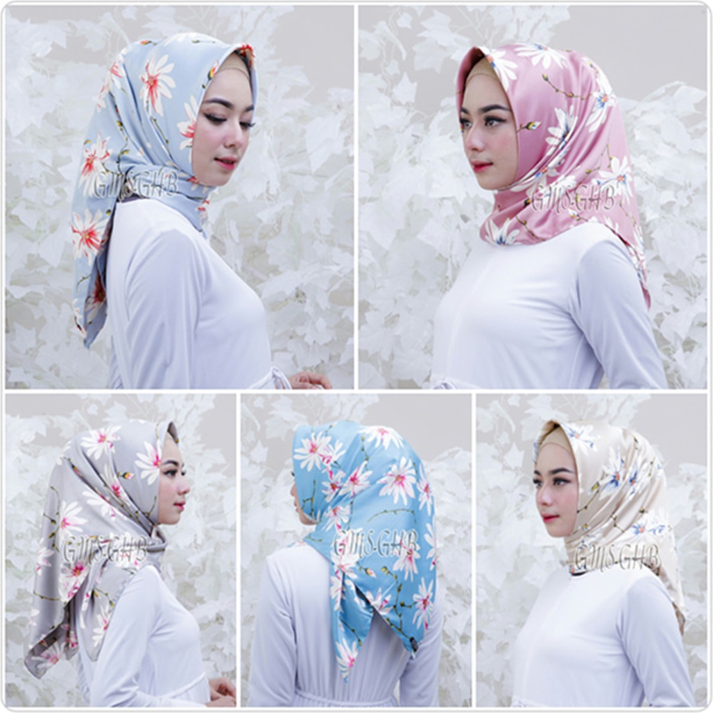 Fashion Hijab Terbaru 2018 Hijab Segi Empat Royal Silk Bunga Trend Fashion Style Hijab 2018