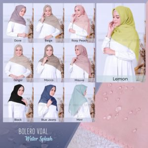 Hijab Segiempat Cutting 115 x 115 Bolero Voal Watersplash
