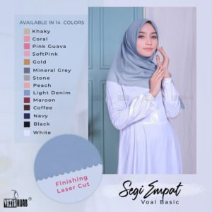 Hijab Segiempat Voal Basic Cutting