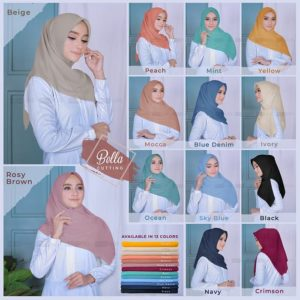Hijab Segiempat Bella Cutting